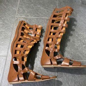 Brown gladiator sandals.  MAKE AN OFFER